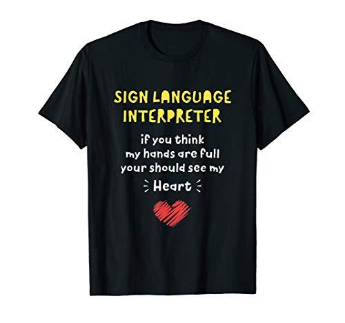 Gebärdendolmetscher Nettes Anerkennungs-Geschenk T-Shirt
