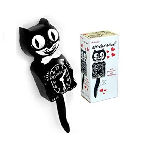hotrodspirit-Pendel Kit Cat Clock schwarz 33cm Wanduhr Deko-US Wanduhr Kit