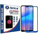 AVICA® Edge To Edge Full Glue Blue 5D Curved Full Front Body Covered Tempered Glass Screen Protector For Huawei Honor P20 Lite (5.84 INCH)