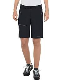 VAUDE Women's badile shorts - Pantalones de acampada y senderismo para mujer, tamaño 34 UK, color negro