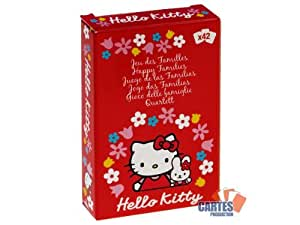 """Jeu de 42 cartes : 7 familles """"Hello Kitty"""""""