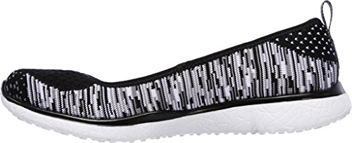 Skechers Microburst Perfect Note Womens Slip On Shoes Black/White
