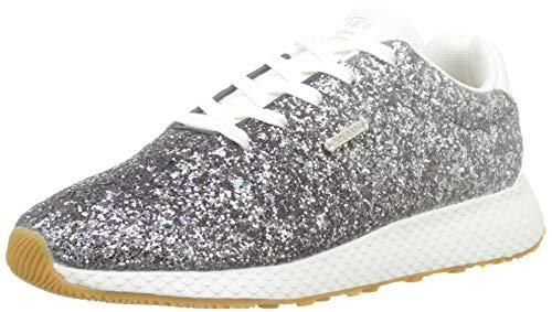 Pepe Jeans London Damen KOKO Glam Sneaker, Silber (Silver 934), 38 EU