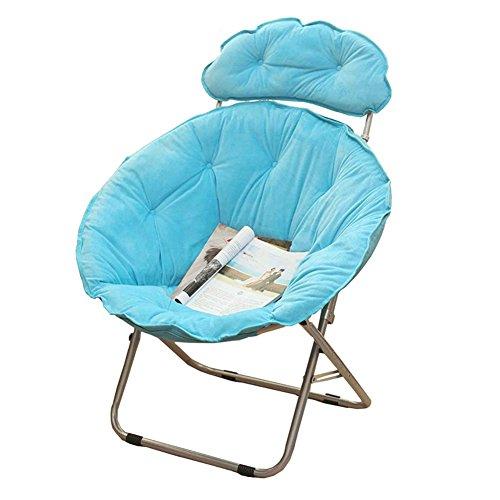 Accueil/Tabouret pour meubles de loisirs intérie Chaise plongeante à grande taille Lunch Break Fold Fauteuil inclinable Nap Sofa durable par BZEI-Chair (Couleur : Bleu)