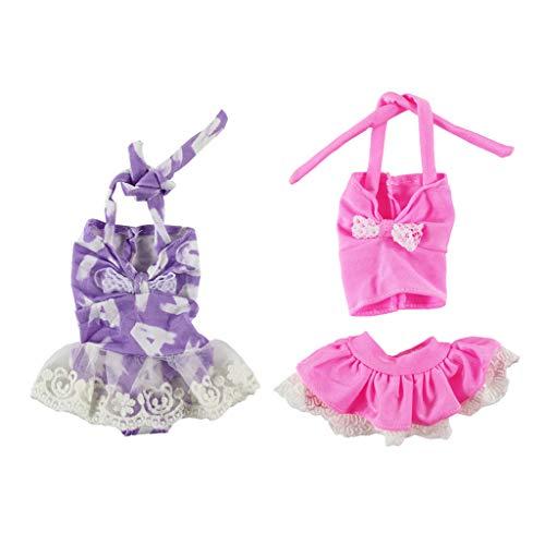 Schöne Puppenkleidung Einteilige Badeanzug Strand Bademode Outfit für 14 Zoll weibliche Puppe ()