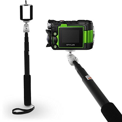 igadgitz Negro Monopod con Palillo Extensible Telescópica a Mano Autorretrato Selfie Stick con Soporte Ajustable para La Muñeca para Olympus Ultra HD Touch TG Tracker Action Cámara