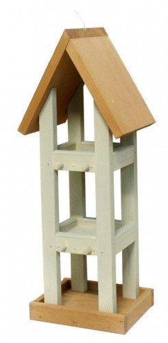 Vogelhaus 15x15x52 cm Kiefer/grau-Eiche