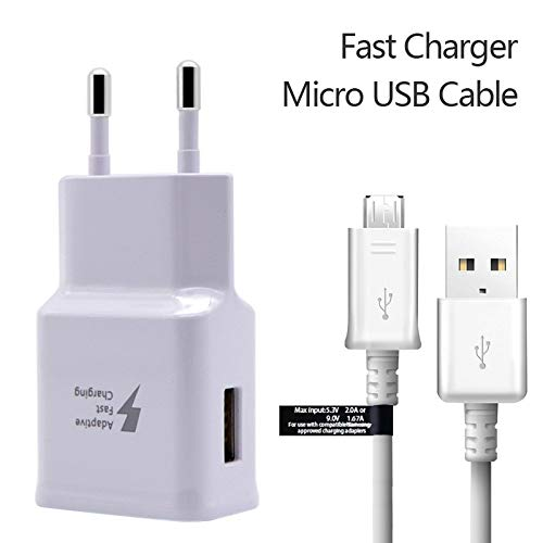 Royalzy Compatible Fast Charger for Samsung Galaxy J7 Next 2Amp 9V USB Charger with Micro USB Data Cable