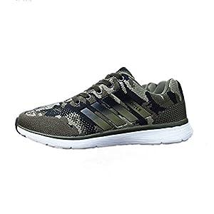 TORISKY Herren Damen Sportschuhe Laufschuhe mit Turnschuhe Camouflage Schuhe Sneaker