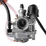 Topwill 16mm Vergaser, Ersatzvergaser mit E-Choke 2-poligern Anschluss und Einer 65S Hauptdüse Ausgeliefert