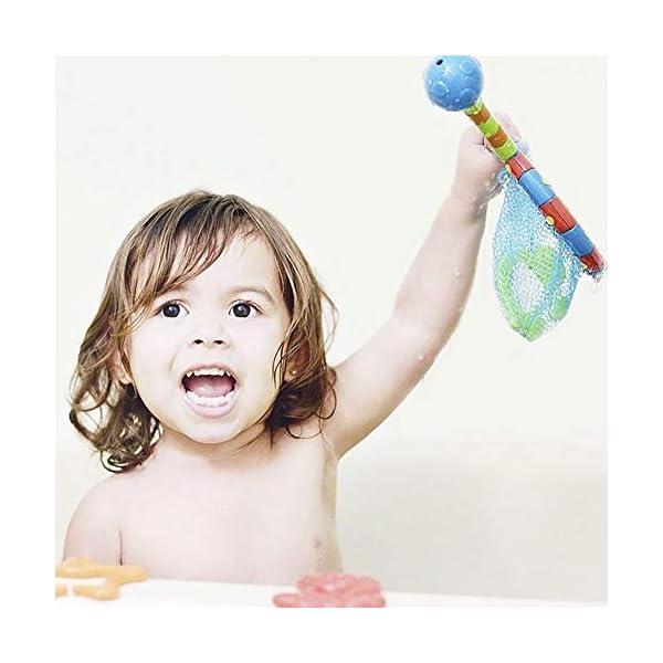 Nuby Splash N' Catch Fishing Set Bath Toy, Multi 3