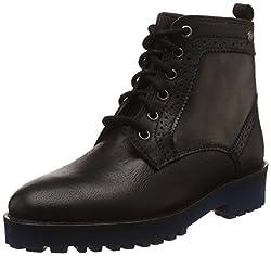 Hush Puppies Womens Betty Black Leather Boots - 6 UK/India (39 EU)(5046956)