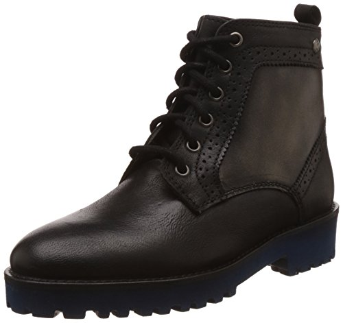 Hush Puppies Women's Betty Black Leather Boots - 7 UK/India...