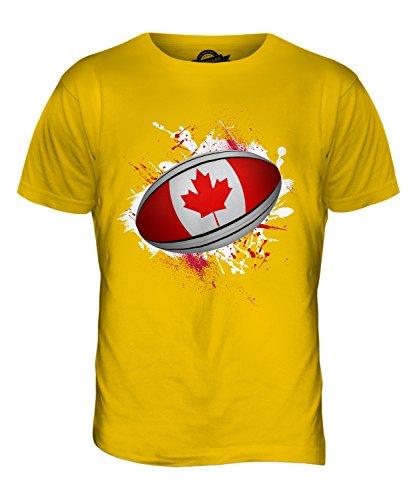 CandyMix Kanada Rugby Ball Herren T Shirt Dunkelgelb