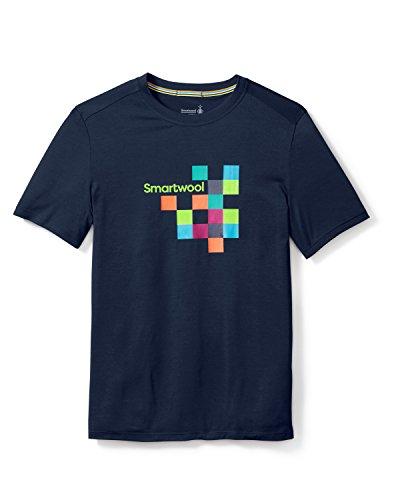 Smartwool Herren Men's Merino 150 Logo Tee T-Shirt, Deep Navy, L (Smartwool-wolle T-shirt)