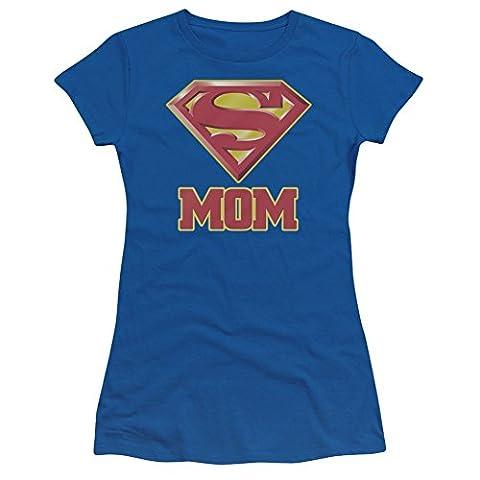 Clark Costume Kent Pour Les Femmes - Superman–Super Mom Bleu Royal Juniors T-shirt pour