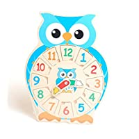 The Good Gift Gallery Kids Childrens Top Selling Toy - Wood Clock Owl Puzzle