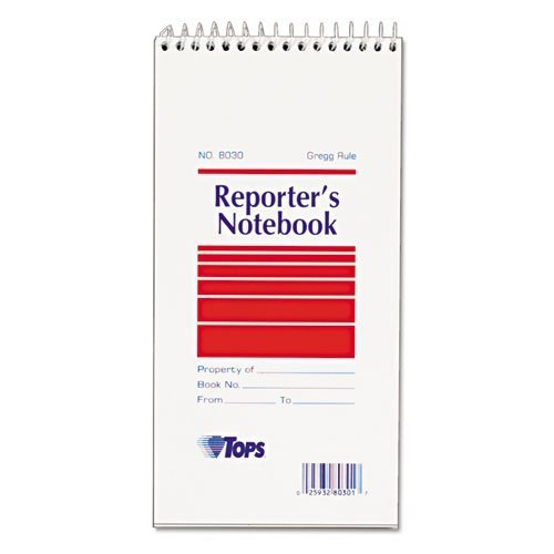topsr-reporter-notebook-gregg-rule-4-x-8-white-12-70-sheet-pads-pack-sold-as-1-pack-pocket-size-by-t