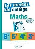 Les années de collège Maths...