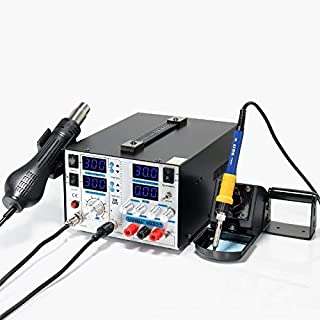 YIHUA 853D+ 4 in 1 HOT AIR REWORK Soldering Iron Station DC Power Supply 30V5A UK