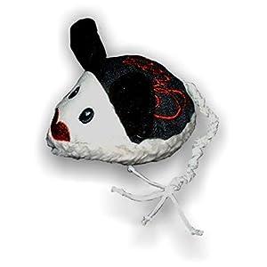 LunaChild Handmade Maus Spielzeug WUNSCHNAME Katzenspielzeug Baldrian Katzenminze Name Rassel schwarz Katze personalisiert persönliches Geschenk