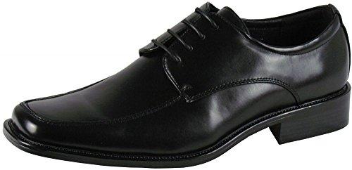 Herrenschuhe - elegante Schnürhalbschuhe - Übergröße - schwarz