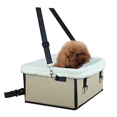 utour tragbar Hund Sitzerhöhung, rutschhemmenden Haustier Auto Sitz mit Sicherheitsgurt Leine für Hunde und Katzen
