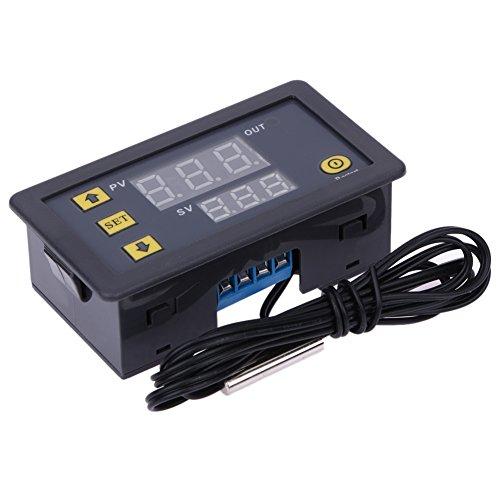 Temperatura Digital Controlador Demiawaking Controlador Digital de la Temperatura (Exhibición Roja y Azul) DC: 12V W3230 Rango de Temperatura -55-120 ℃