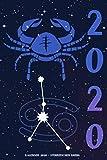 Kalender 2020 - Sternzeichen Krebs: Schöner Kalender mit Sternzeichen   Wochenplaner mit 70 Seiten   15,24 cm X 22,86 cm ( 6 X 9 Inches )