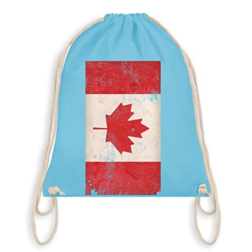 Fußball-Weltmeisterschaft 2018 Kinder - Kanada Flagge Vintage - Unisize - Hellblau - WM110 - Turnbeutel & Gym Bag
