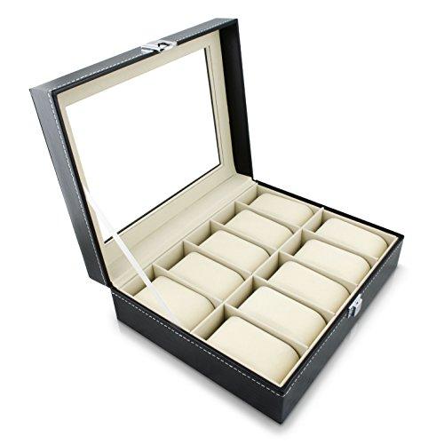 venkon-10-montre-a-bracelet-presentoir-coffret-avec-fenetre-en-verre-pour-rangement-presentation-de-