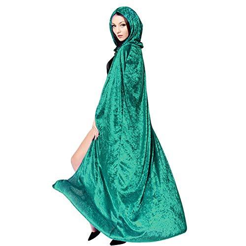 Männliches Kostüm Übergröße - Wind Goal Windtor Kapuzenumhang Halloween Hexe Zauberer Death Long Cape Cosplay Kostüm für Männer und Frauen Gr. G, Green-a Style