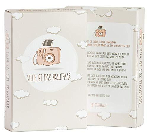 Hochzeitsspiel: Selfie ist das Brautpaar - Box mit kreativen und lustigen Fotoaufgaben - Tolles Spiel für Gäste oder Geschenkidee für das Brautpaar - Eisbrecher für die Hochzeit