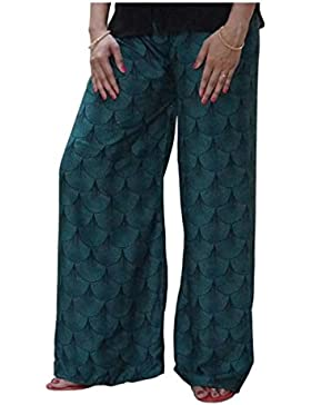 Indian Handicrfats Export DiscountZila Flared Women's Green Trousers