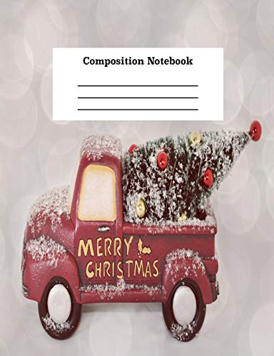 Composition Notebook: Merry Christmas College Line Paper Journal for Kids and Adults (Christmas Schreiben Merry)