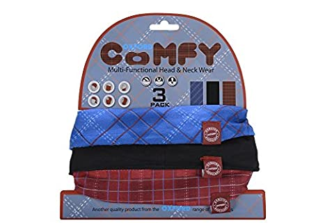 Oxford Unisex Comfy Multi-Functional Head and Neck Loop Scarf, Plaid, One Size