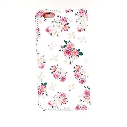 """iphone 6 / 6s Coque, MYTH - Animaux Éléphant Étui À Rabat Coque, Portefeuille Bumper Housse Case Pour Apple iphone 6 / 6s 4.7"""" Beau Fleur"""