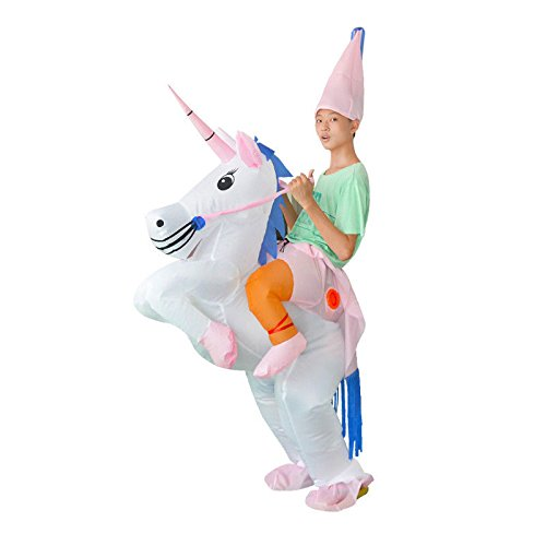 Aufblasbare Einhorn Fancy Dress Henne Hirsch Blow Up Kostüm Karneval (Kinder) (Bagger Kostüm)