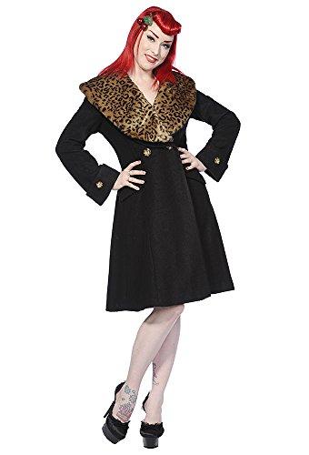 Banned Apparel-Cappotto da donna nero vintage rockabilly Black 42