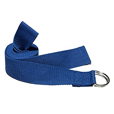 Baumwolle Yogagurt Yoga Strap,Asnlove 183cm 2 in 1 Fitness Belt Yoga Stretching Gürtel mit 2 Metall Yoga Stretch Strap D-Ring Training Gürtel Taille Bein Fitness Tools
