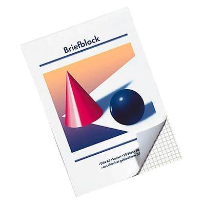 10 Stück Briefblöcke / DIN A5 / kariert / 80 g/m² / 50 Blatt