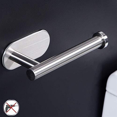 Zunto porta carta igienica - portarotolo carta igienica adesivo per bagno e toilette, in acciaio inox