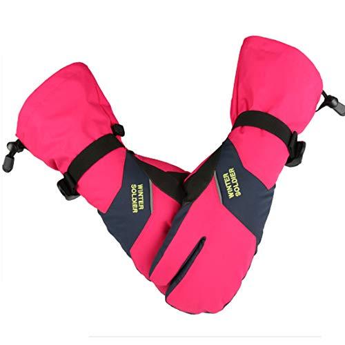 Touchscreen Skihandschuhe für Herren & Damen, -40 ℃ Winter warme Schnee Handschuhe für Erwachsene, wasserdicht winddicht rutschfest kaltes Wetter Thermo-Handschuhe für Skaten Skifahren Snowboarden