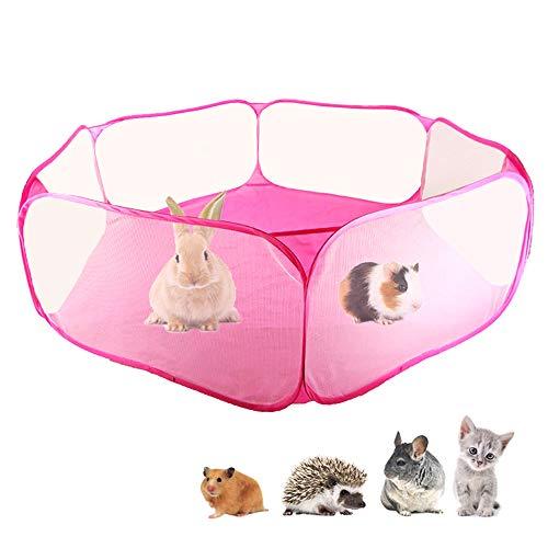 Tenda per gabbia di animali di piccola taglia c & c, box per animali domestici trasparente recinzione per esercizi di pop-up, recinto di lamiera per porcellini d'india, conigli, cincillà e ricci