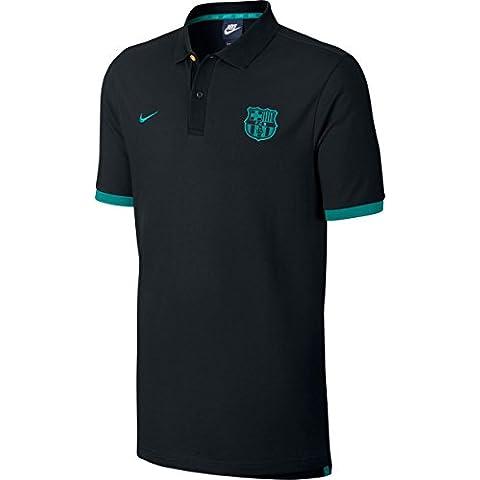 Nike M Nsw Polo Pq Cre - Polo de manga corta línea F.C. Barcelona para hombre, color negro, talla