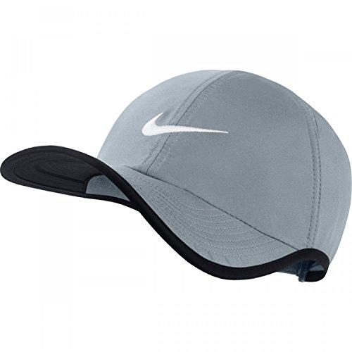 Nike Unisex Federleicht verstellbarer Hut, Grau/Schwarz, Einheitsgröße (Einstellbar) (Hut Einstellbar Grau)