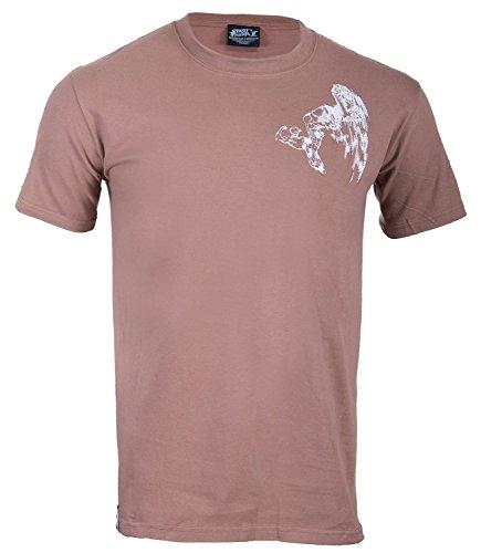 Street Fighter -  T-shirt - Crew Neck - Basic - Collo a U  - Maniche corte - Uomo Military Brown