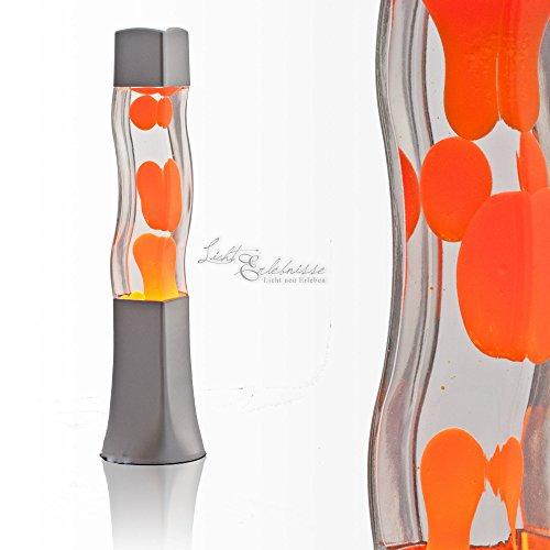 Lavalampe 41cm Magmalampe Lavaleuchte Lavalampe Orange Lavalampe E14 25W mit Kabelschalter Geschenkidee Weihnachten inklusive Leuchtmittel Retro Leuchte