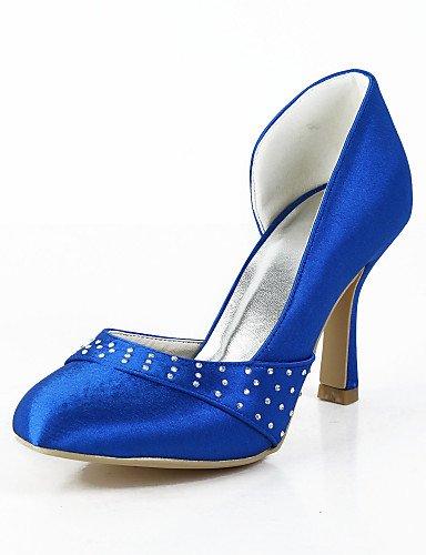 WSS 2016 Chaussures de mariage-Bleu / Ivoire / Blanc-Mariage / Habillé / Soirée & Evénement-Talons / Bout Arrondi-Talons-Homme 3in-3 3/4in-white