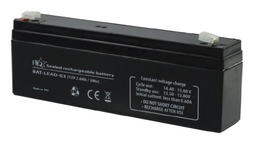 HQ Batterie au Plomb-acide recargable 12 V 2000 mAh